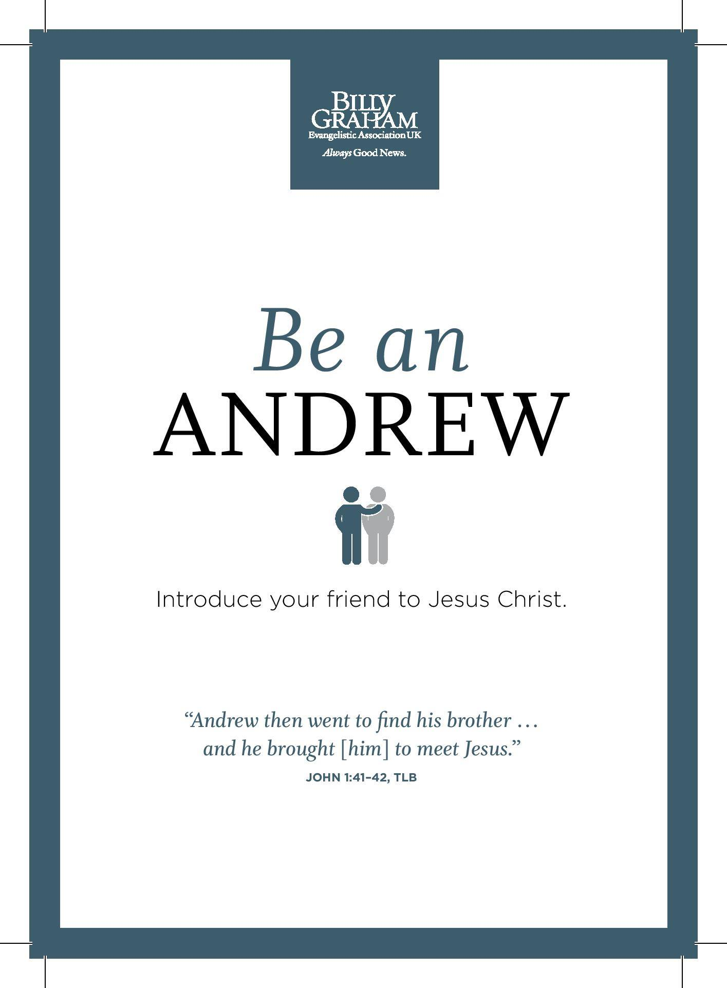 Blackpool Festival of Hope with Franklin Graham:  Be an Andrew!