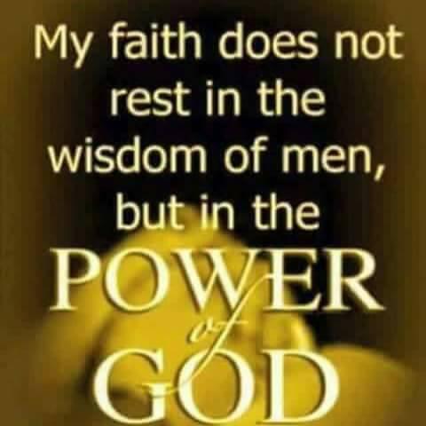 Trust God not man!