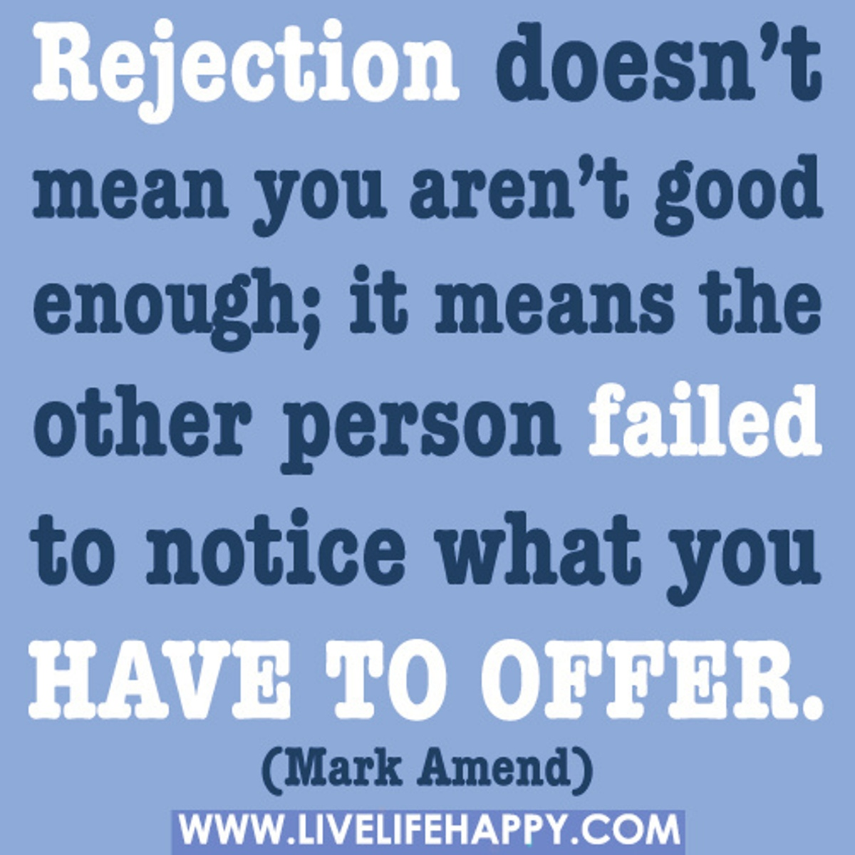 Rejection:  A Christian response