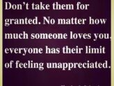 Feeling Unappreciated?