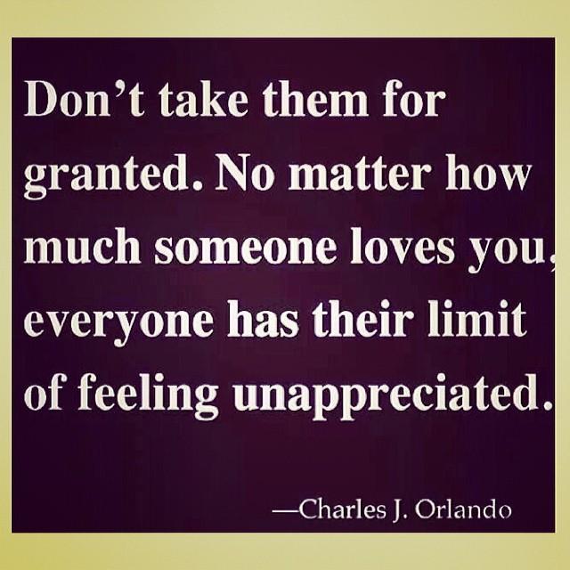 Feeling Unappreciated?